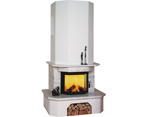 Module de poêle Hark Aspen en marbre blanc naturel 8 kW