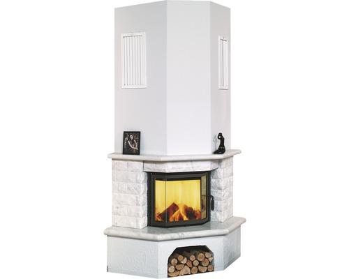 Module de poêle Hark Vermont en marbre blanc naturel 8 kW