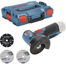 Meuleuse d'angle sans fil Bosch Professional GWS 12V-76 avec 1 x disque à tronçonner en métal dur, 2 disques à tronçonner en Inox et L-BOXX 102, sans batterie ni chargeur-thumb-0