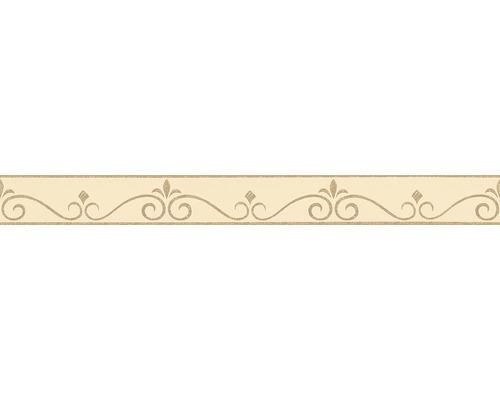 Frise autocollante ornement de lignes beige or 5mx5cm