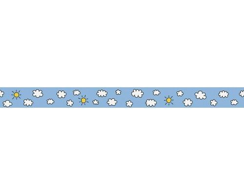 Frise nuages soleil bleu clair 5mx5cm
