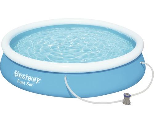 Set de piscine Bestway Fast-Set Ø366cm H76cm avec pompe à filtre