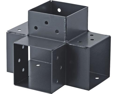 Steckverbinder TYP X 90x90 mm Verl. 90° anthrazit
