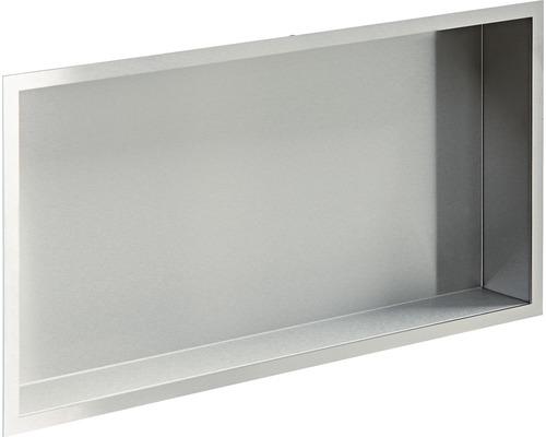 Badablage Design Box Wandeinbau 60x30 cm V2A edelstahl mit Abkantung