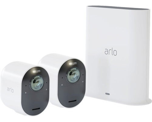 Système de vidéosurveillance Arlo Ultra 4K-UHD sans câble avec 2 caméras (VMS5240)