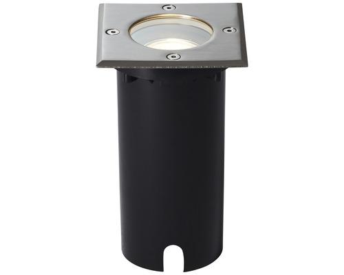 Éclairage Itch à encastrer dans le sol IP67 1 ampoule 110x110 mm carré acier inoxydable