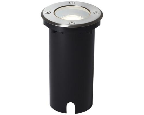 Éclairage Itch à encastrer dans le sol IP67 1 ampoule Ø 110 mm rond acier inoxydable