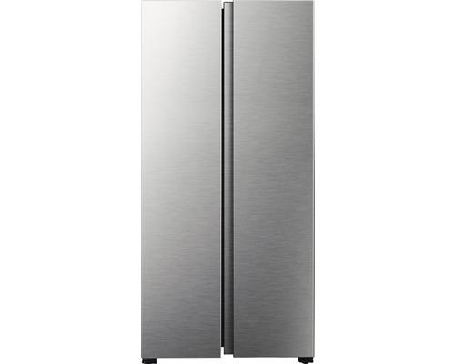 Réfrigérateur américain PKM SBS 468.4A+NF IX lxhxp 83.2 x 178 x 62.3 cm compartiment de réfrigération 266 l compartiment de congélation 175 l