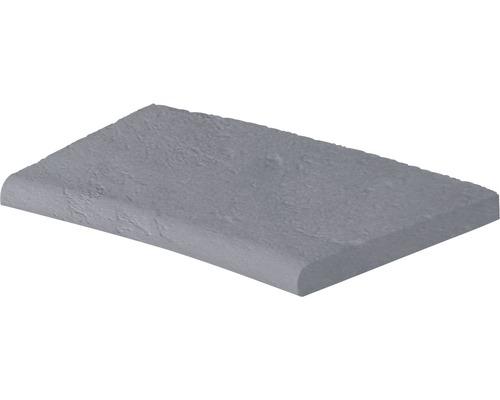 Bordure de piscine margelle Margo élément plat avec courbe intérieure pour arrondi de rayon 400 cm gris 50 x 31 x 3,2 cm