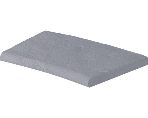 Bordure de piscine margelle Margo élément plat avec courbe intérieure pour arrondi de rayon 160 cm gris 49 x 31 x 3,2 cm