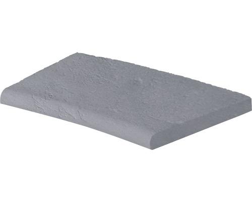 Bordure de piscine margelle Margo élément plat avec courbe intérieure pour arrondi de rayon 300 cm gris 50 x 31 x 3,2 cm