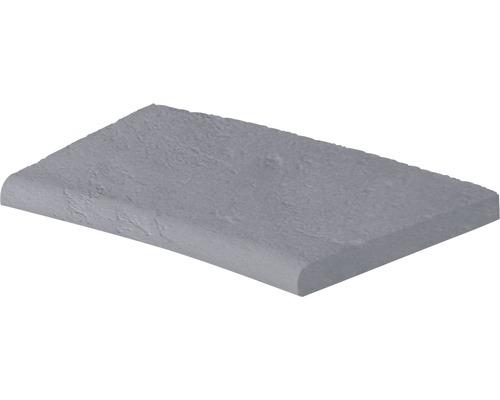 Bordure de piscine margelle Margo élément plat avec courbe intérieure pour arrondi de rayon 100 cm gris 50 x 31 x 3,2 cm