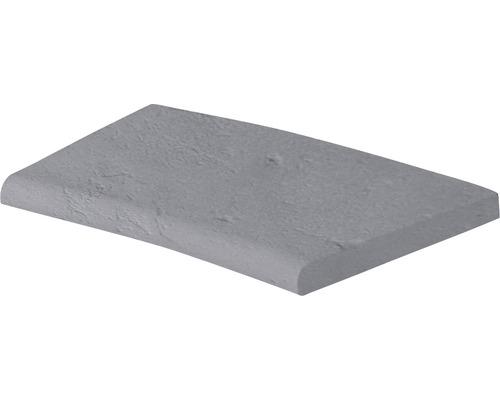 Bordure de piscine margelle Margo élément plat avec courbe intérieure pour arrondi de rayon 208 cm gris 50 x 31 x 3,2 cm