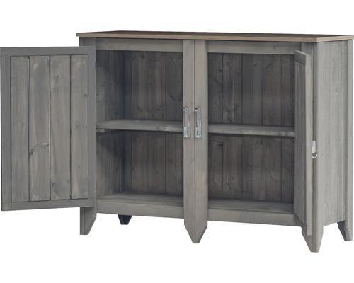 Armoire à outils/Cuisine d''extérieur Konsta type 559 Buffet avec 2 portes 115x40x88 cm gris clair