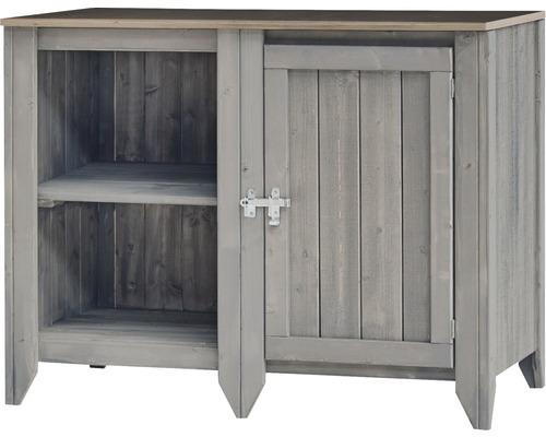 Armoire à outils/Cuisine d''extérieur Konsta type 559 Buffet avec porte 115x60x88 cm gris clair