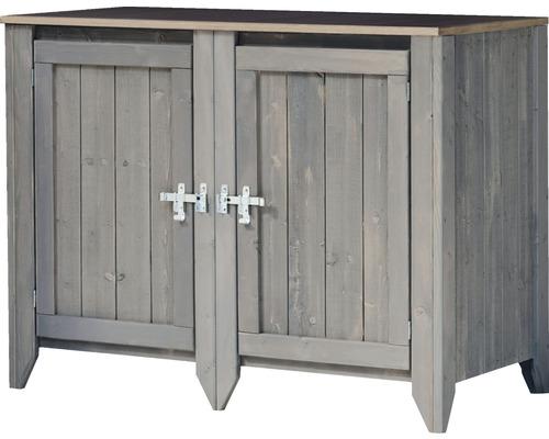 Armoire à outils/Cuisine d''extérieur Konsta type 559 Buffet avec 2 portes 115x60x88 cm gris clair