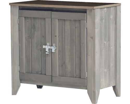 Armoire à outils/Cuisine d''extérieur Konsta type 559 Buffet avec 2 portes 80x40x73 cm gris clair