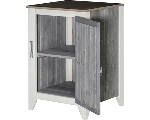 Armoire à outils/Cuisine d''extérieur Konsta type 561 avec porte 60x60x88 cm gris clair-crème