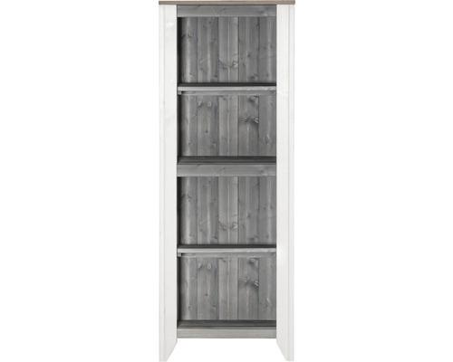 Armoire à outils/Cuisine d''extérieur Konsta type 561 Armoire haute 60x40x160 cm gris clair-crème