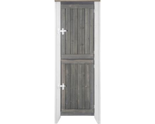 Armoire à outils/Cuisine d''extérieur Konsta type 561 Armoire haute avec 2 portes 60x60x160 cm gris clair-crème