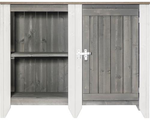 Armoire à outils/Cuisine d''extérieur Konsta type 561 Buffet avec porte 115x60x88 cm gris clair-crème