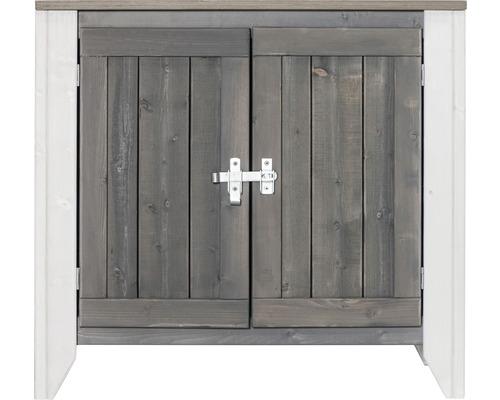 Armoire à outils/Cuisine d''extérieur Konsta type 561 Buffet avec 2 portes 80x40x73 cm gris clair-crème