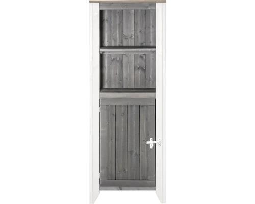 Armoire à outils/Cuisine d''extérieur Konsta type 561 Armoire haute avec porte 60x60x160 cm gris clair-crème