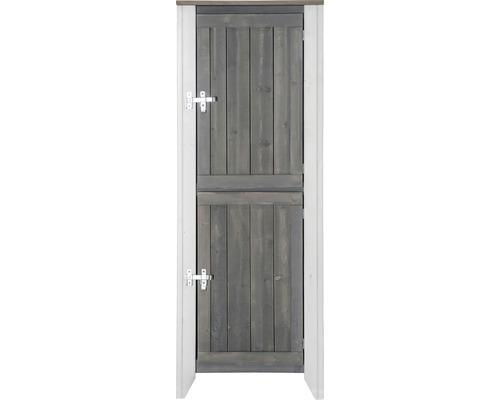 Armoire à outils/Cuisine d''extérieur Konsta type 561 Armoire haute avec 2 portes 60x40x160 cm gris clair-crème