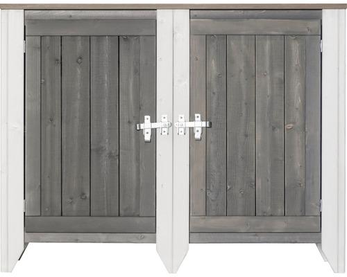 Armoire à outils/Cuisine d''extérieur Konsta type 561 Buffet avec 2 portes 115x40x88 cm gris clair-crème