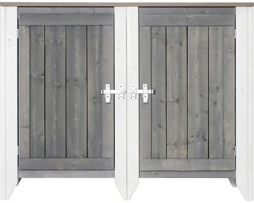 Armoire à outils/Cuisine d''extérieur Konsta type 561 Buffet avec 2 portes 115x60x88 cm gris clair-crème