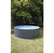 Aufstellpool Stahlwandpool-Set rund Ø 350x90 cm inkl. Sandfilteranlage, Leiter & Skimmer grau-thumb-1