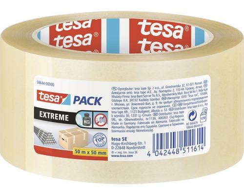 Ruban d'emballage transparent tesapack® Extreme 50m x 50mm