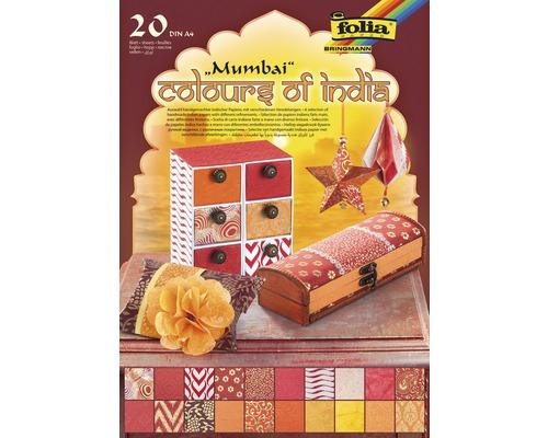 Bloc de papier naturel Colours of India DIN A4