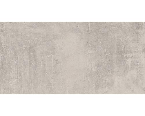 Carrelage de sol et mural en grès cérame fin New Concrete gris mat 30x60cm-0