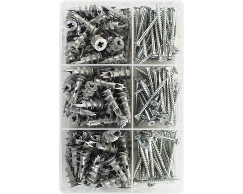 Boîte d'assortiment Tox Indoor Plus cheville pour plaques de plâtre 180 pièces 094901113