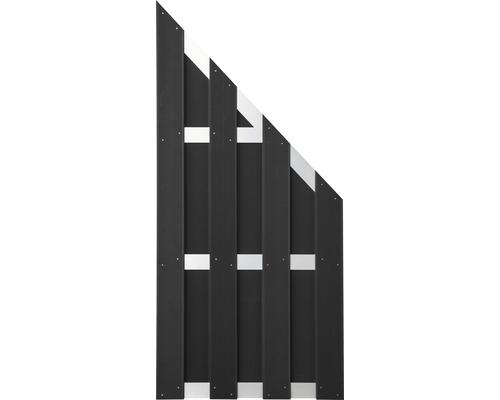 Élément de clôture Merano WPC 84,3x180/90cm, anthracite