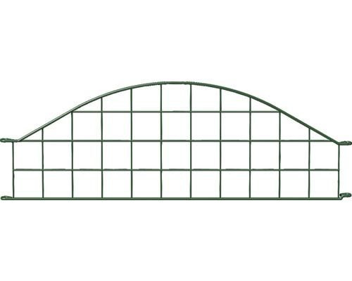 Panneau de clôture rabattable, arceau en haut 77,3x26.5cm, vert