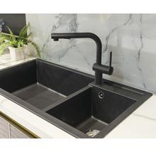 Mitigeur pour évier AVITAL HUDSON avec douchette à vaisselle noir mat-thumb-1