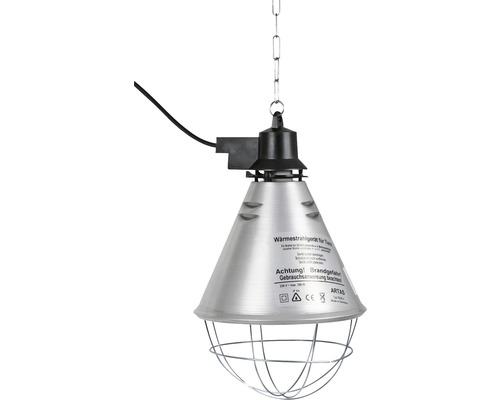 Réflecteur infrarouge/appareil de diffusion de chaleur pour animaux avec écran en aluminium ø21cm câble 5m