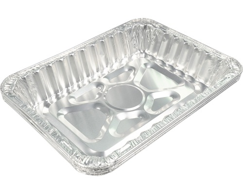 Barquette à barbecue, égouttoir en aluminium, barquette en aluminium Tenneker® 43x32x7,5m 4 pces