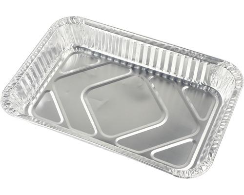 Barquette à barbecue, égouttoir en aluminium, plateau en aluminium Tenneker® 31,5x21,5x4,2cm 20 pces
