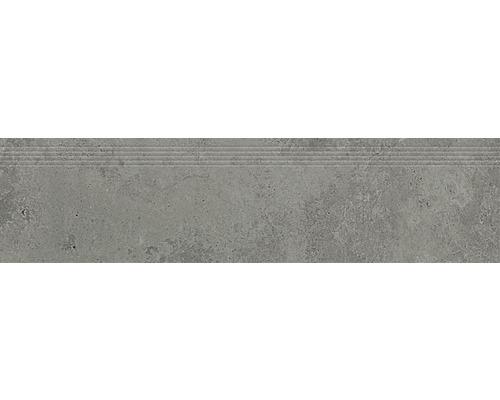 Carrelage de marches en grès cérame fin Candy grey 29,8x119,8cm
