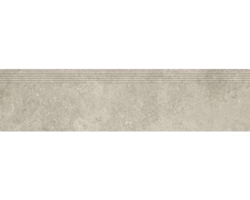 Carrelage de marches en grès cérame fin Candy cream 29,8x119,8cm
