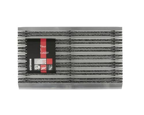 Paillasson en aluminium Avanti Style gris 45x75 cm