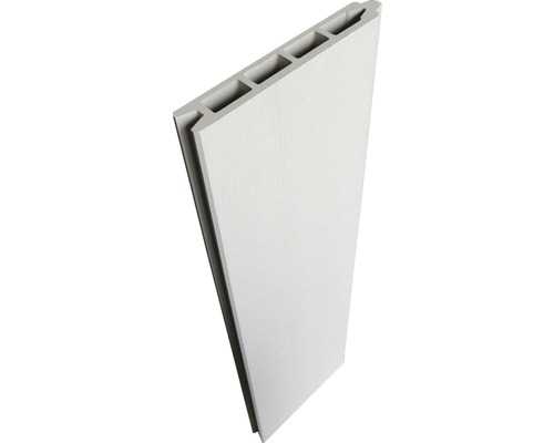 Profilé individuel clôture enfichable WPC 177x15 cm blanc crème