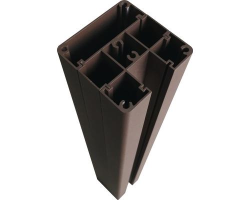 Alupfosten für Steckzaun 7x7x190cm, braun