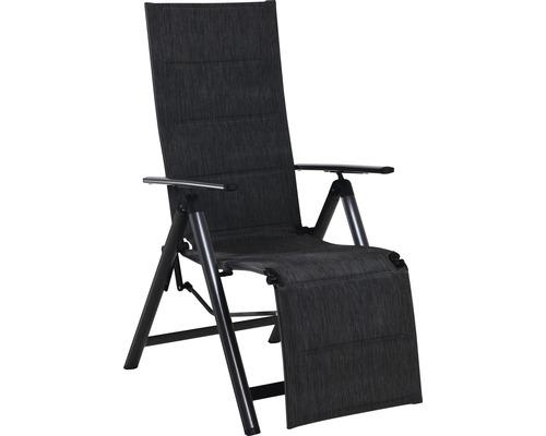 Chaise pliante Relax Garden Place fauteuil pliant avec recouvrement textile séchage rapide anthracite