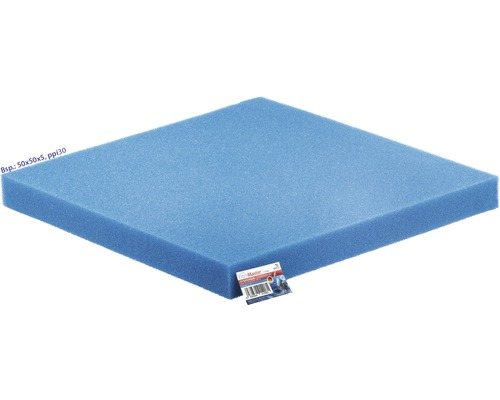 Mousse filtrante PAPILLON fine 50x50x3cm bleu