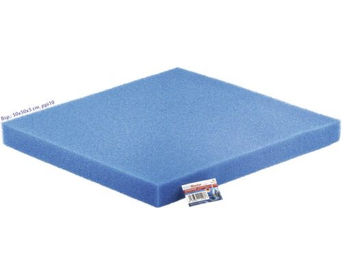 Mousse filtrante PAPILLON grossière 50x50x3 cm bleu