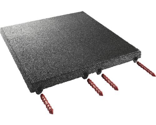 Dalle pour écurie terrasoft 12 m² noir compression plus élevée 50x50x4cm 48 pièces 31,2 kg/m²